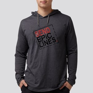Send Epic Lines. Mens Hooded Shirt