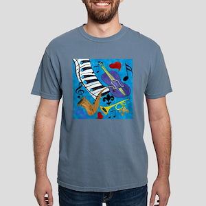 Jazz on Blue Mens Comfort Colors Shirt