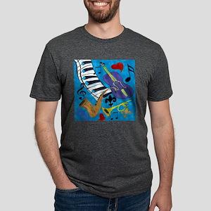 Jazz on Blue Mens Tri-blend T-Shirt