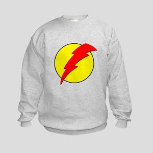 A Red Lightning Bolt Kids Sweatshirt