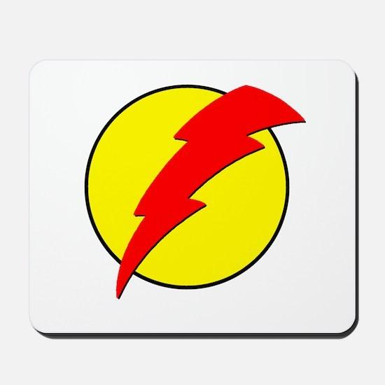 A Red Lightning Bolt Mousepad