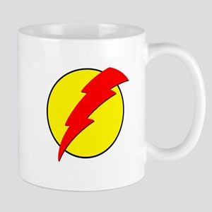 A Red Lightning Bolt Mug