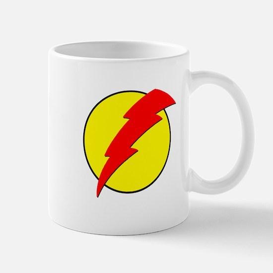 A Red Lightning Bolt Mug