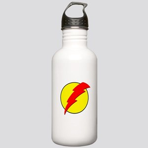 A Red Lightning Bolt Stainless Water Bottle 1.0L