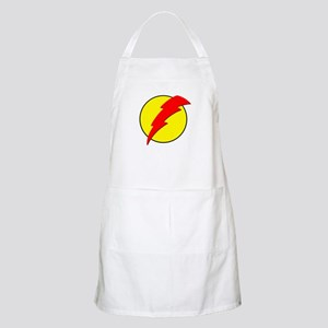 A Red Lightning Bolt Apron