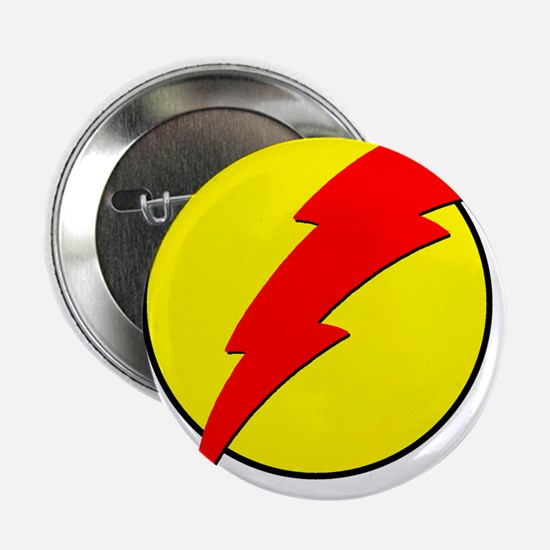 "A Red Lightning Bolt 2.25"" Button"
