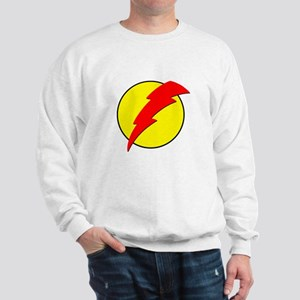 A Red Lightning Bolt Sweatshirt