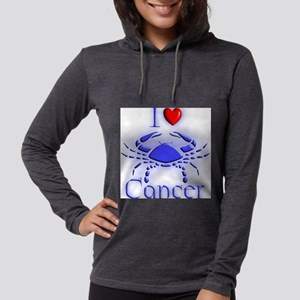 I love Cancer Womens Hooded Shirt
