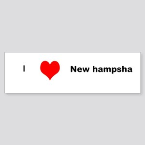 Love New Hampsha Sticker (Bumper)