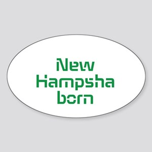 New Hampsha Born Sticker (Oval)