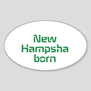 New Hampsha Born Sticker (Oval)