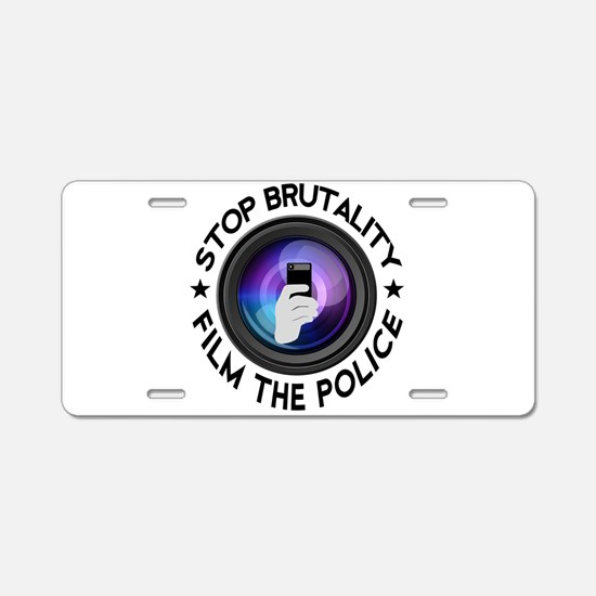 Film The Police Aluminum License Plate