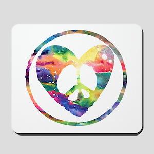 Rainbow Peace Heart C Mousepad