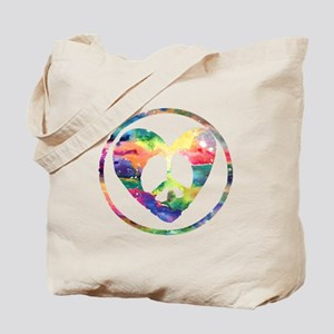 Rainbow Peace Heart C Tote Bag