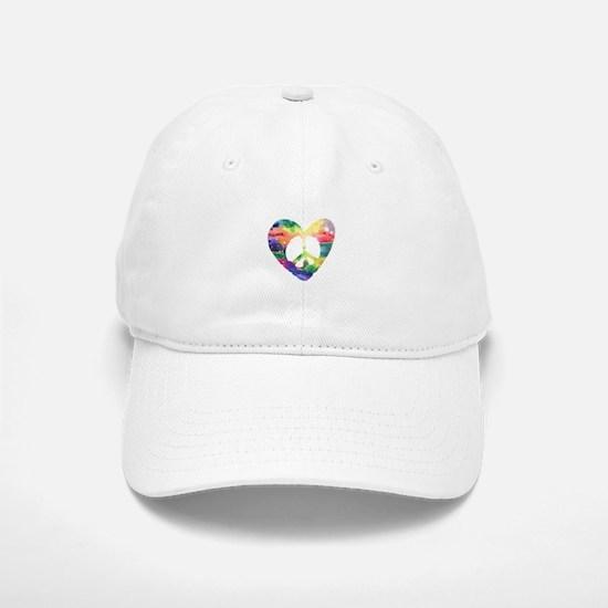 Rainbow Peace Heart Baseball Baseball Cap