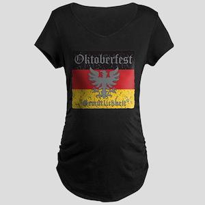 Oktoberfest Gemutlichkeit Maternity Dark T-Shirt
