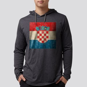 Vintage Croatia Mens Hooded Shirt