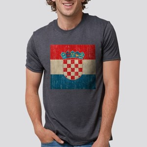 Vintage Croatia Mens Tri-blend T-Shirt