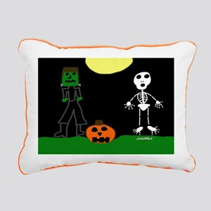 Halloween Haunters Rectangular Canvas Pillow