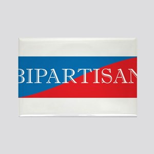 Bipartisan Two Color Sticker Rectangle Magnet