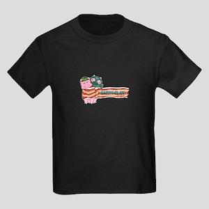 Bacon Clan Mascots Kids Dark T-Shirt