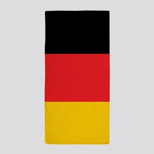 German Tricolor Flag in Black Red and Yellow Beach