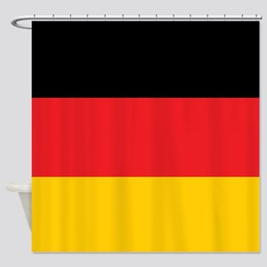 German Tricolor Flag in Black Red and Yellow Showe