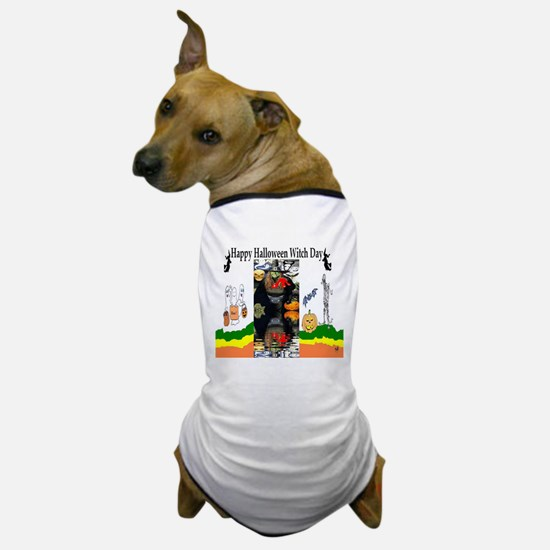 Halloween Witch Day Dog T-Shirt
