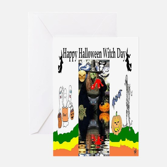 Halloween Witch Day Greeting Card