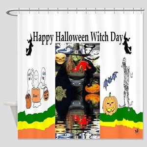 Halloween Witch Day Shower Curtain