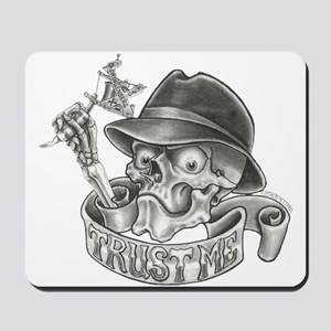 Wicked Skull with Tattoo Machine Mousepad