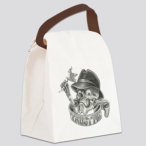 Wicked Skull with Tattoo Machine Canvas Lunch Bag
