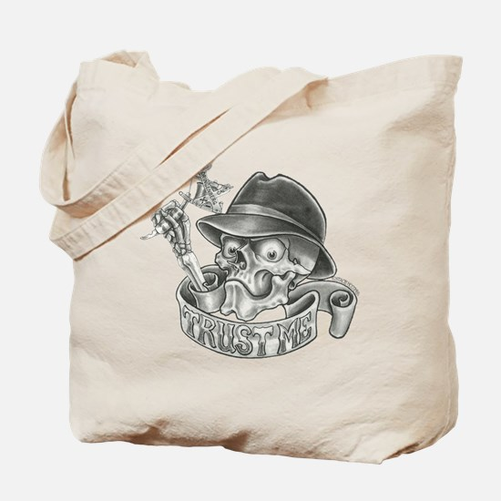 Wicked Skull with Tattoo Machine Tote Bag