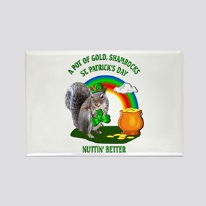 Squirrel St. Patrick's Day Rectangle Magnet