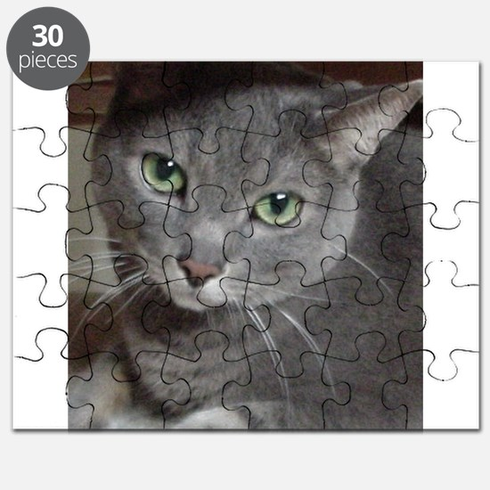 Russian Blue Gray Cat Puzzle