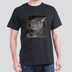 Gray Cat Russian Blue Dark T-Shirt