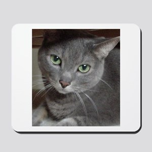 Gray Cat Russian Blue Mousepad