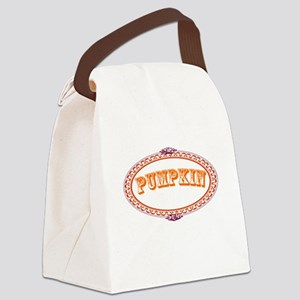 Pumpkin Canvas Lunch Bag