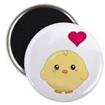 Cute Chick and Heart Magnet