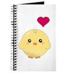 Cute Chick and Heart Journal