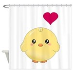 Cute Chick and Heart Shower Curtain