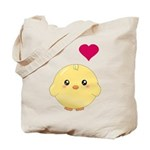 Cute Chick and Heart Tote Bag