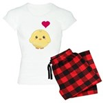 Cute Chick and Heart Women's Light Pajamas