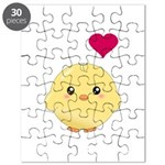 Cute Chick and Heart Puzzle