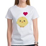 Cute Chick and Heart Women's T-Shirt