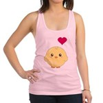 Cute Chick and Heart Racerback Tank Top