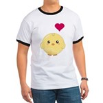 Cute Chick and Heart Ringer T