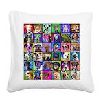 Pop Art Pet Square Canvas Pillow
