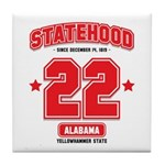 Statehood Alabama Tile Coaster