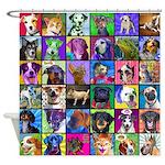 Pop Art Pet Shower Curtain